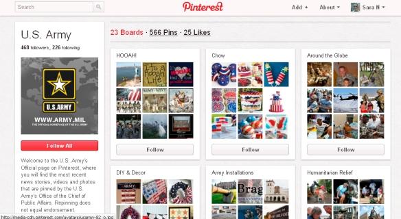El Ejército estadounidense llega a Pinterest